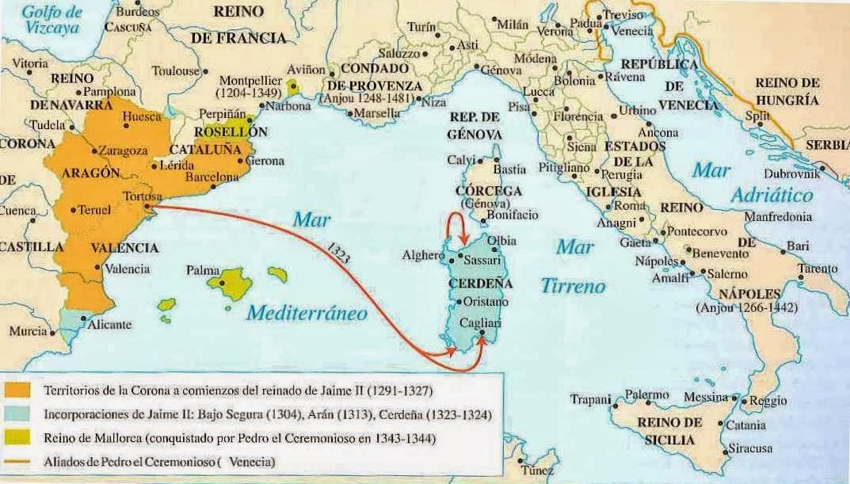 3 La Expansión De La Corona De Aragón Por El Mediterráneo La Baja Edad Media